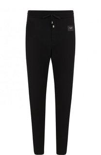 Хлопковые брюки и поясом на кулиске Dolce & Gabbana
