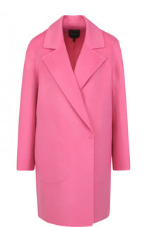 Однотонное пальто свободного кроя из смеси шерсти и кашемира Theory