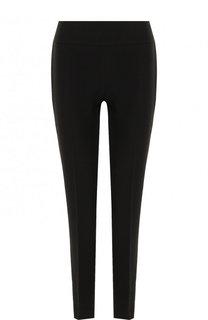 Однотонные шерстяные брюки прямого кроя BOSS