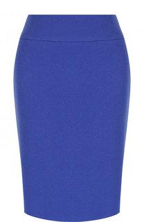 Однотонная шерстяная юбка-карандаш BOSS