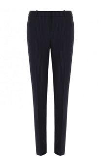 Шерстяные брюки прямого кроя в полоску BOSS