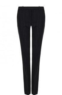 Шерстяные расклешенные брюки в полоску BOSS