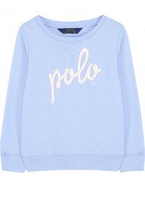 Свитшот джерси с логотипом бренда Polo Ralph Lauren