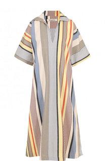 Хлопковое платье-миди свободного кроя Tata Naka