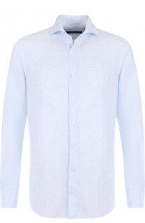Льняная сорочка с воротником кент Windsor