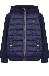 Куртка со стеганой вставкой на молнии с капюшоном Polo Ralph Lauren