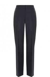 Шерстяные брюки прямого кроя со стрелками BOSS