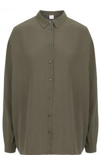 Шелковая блуза свободного кроя BOSS