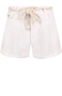 Льняные мини-шорты с поясом Polo Ralph Lauren
