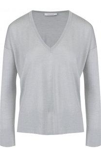 Пуловер из смеси кашемира и шелка с V-образным вырезом Cruciani