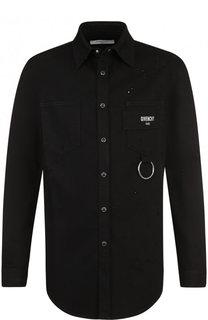 Хлопковая рубашка с декоративной отделкой Givenchy