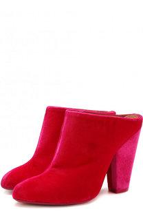 Бархатные мюли на устойчивом каблуке Givenchy