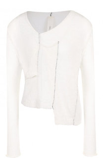 Пуловер с V-образным вырезом из льна Isabel Benenato