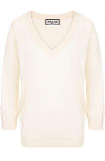 Пуловер из смеси шелка и хлопка с укороченным рукавом Paul&Joe Paul&Joe