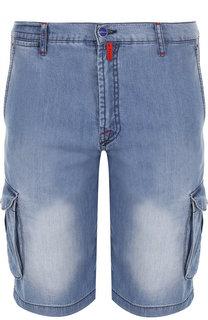 Джинсовые шорты с накладными карманами Kiton