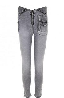 Укороченные джинсы-скинни с потертостями RTA