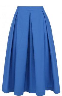Однотонная хлопковая юбка-миди Van Laack