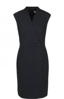 Однотонное приталенное мини-платье BOSS
