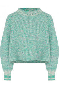 Укороченный пуловер фактурной вязки из хлопка Vika Gazinskaya