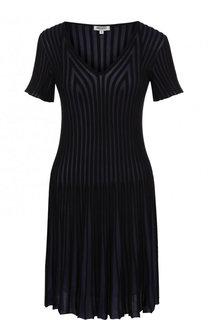 Мини-платье фактурной вязки с V-образным вырезом Kenzo