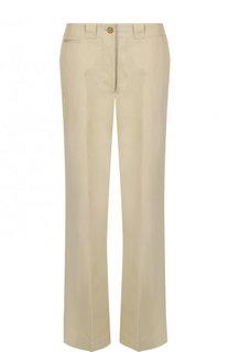 Однотонные хлопковые брюки со стрелками Burberry