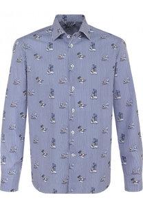 Хлопковая сорочка с воротником кент Van Laack