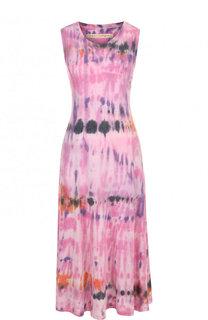 Приталенное платье-миди с принтом Raquel Allegra