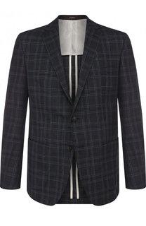 Однобортный пиджак из смеси шерсти и шелка Windsor