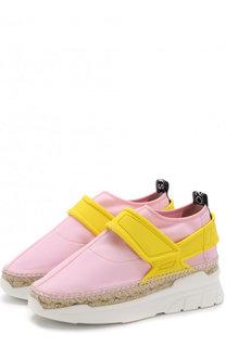 Текстильные кроссовки с джутовой отделкой Kenzo