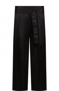 Укороченные широкие брюки из вискозы Ann Demeulemeester