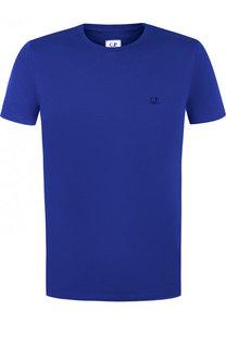 Хлопковая футболка с круглым вырезом C.P. Company