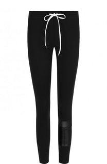 Укороченные брюки-скинни с контрастной отделкой Koral