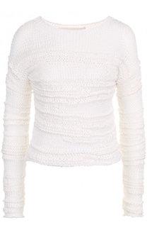 Пуловер фактурной вязки из хлопка Isabel Benenato