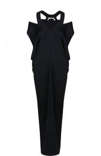 Платье фактурной вязки из вискозы Roberto Cavalli