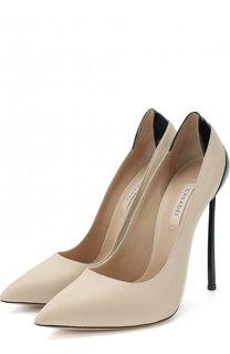 Кожаные туфли на шпильке Blade Casadei