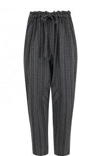 Укороченные брюки из вискозы с эластичным поясом Raquel Allegra