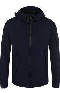 Хлопковая куртка на молнии с капюшоном C.P. Company