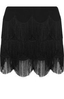 Мини-юбка из вискозы с бахромой Marc Jacobs
