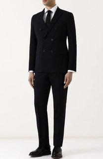 Шерстяной костюм с двубортный пиджаком Emporio Armani