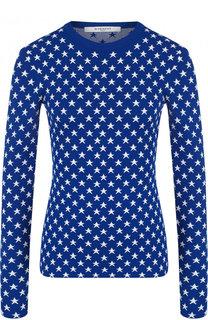 Приталенный пуловер из вискозы с принтом в виде звезд Givenchy