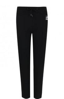 Укороченные хлопковые брюки с эластичным поясом Kenzo