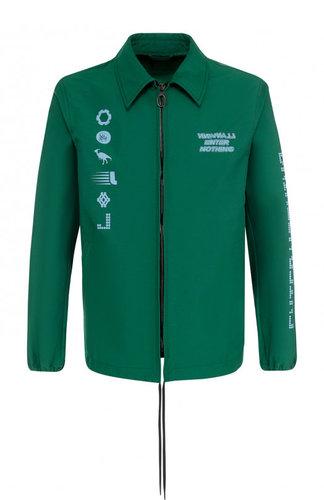 Хлопковая куртка на молнии с принтом Lanvin