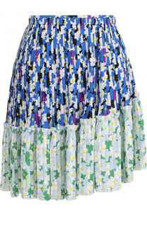 Плиссированная мини-юбка с цветочным принтом Kenzo