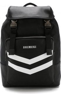 Текстильный рюкзак с клапаном Dirk Bikkembergs