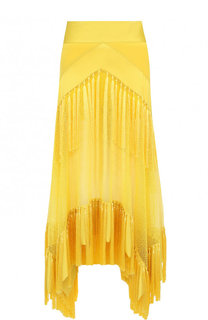 Юбка-миди асимметричного кроя с бахромой Diane Von Furstenberg