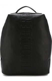 Текстильный рюкзак с логотипом бренда Dirk Bikkembergs