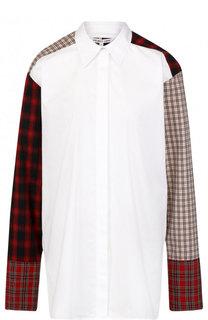 Хлопковая блуза свободного кроя Helmut Lang