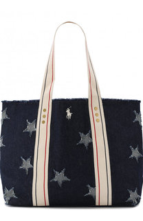 Сумка-шоппер из текстиля Polo Ralph Lauren
