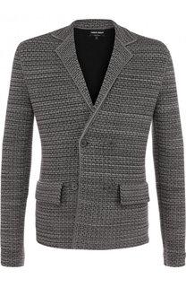 Двубортный пиджак из смеси вискозы и шерсти с кашемиром Giorgio Armani