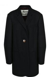 Шерстяное однотонное пальто свободного кроя Acne Studios